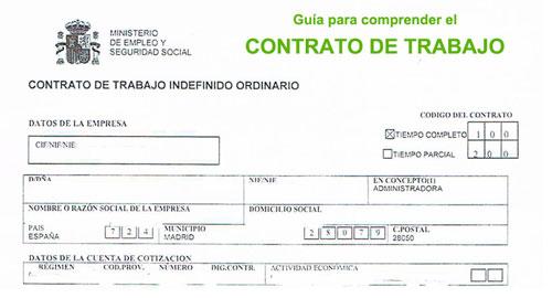 contrato de trabajo formas de contrato